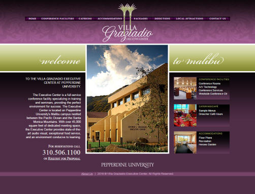 Vill Graziadio Website